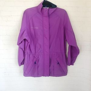 [Columbia] vintage purple windbreaker jacket S